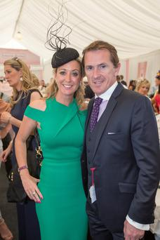 Tony McCoy and his wife Chanelle at Galway Races yesterday