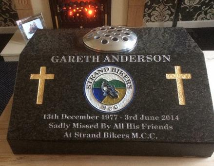 Gareth Anderson memorial that may have to be removed