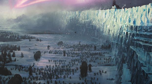 How the ice wall appears in Game Of Thrones