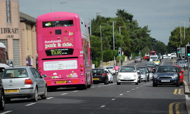 Tailbacks: the new bus lane on the busy Upper Newtownards Road in east Belfast will come into force on August 10