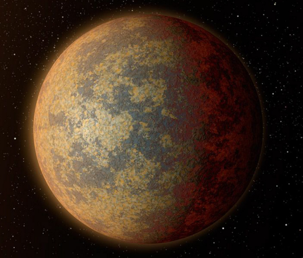 Artist's impression of the rocky planet