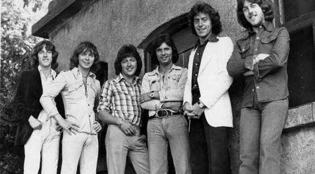 Des Lee, fourth from left, with the Miami Showband in 1975. The men who died were Tony Geraghty (far left), Fran O'Toole (second from left) and Brian McCoy (second from right)