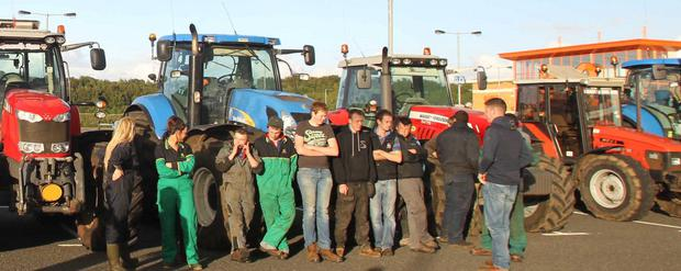 Dairy farmers protest at Sainsbury's in Coleraine