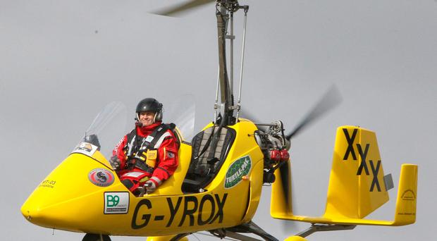 Norman in his gyrocopter