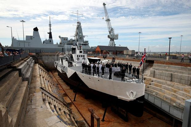 The Belfast-built HMS M33 is officially opened to the public in Portsmouth Historic Dockyard