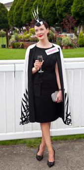 Laura Jayne Halton from Kildare was named Best Dressed Lady at the Dublin Horse Show yesterday