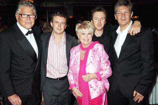 Gloria and her husband Stephen Way with (from left) sons Michael and Paul and Caron's husband Russ Lindsay