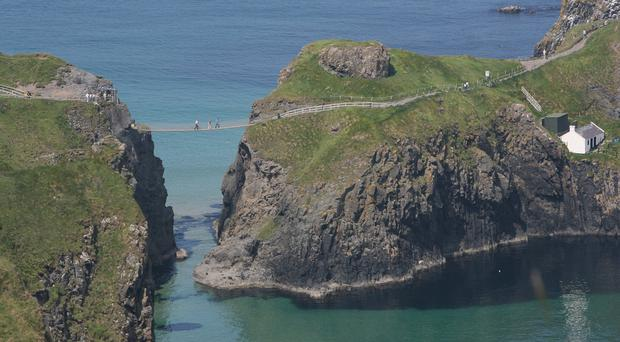 The man is believed to have suffered facial injuries after the incident on Carrick-a-Rede island, Co Antrim