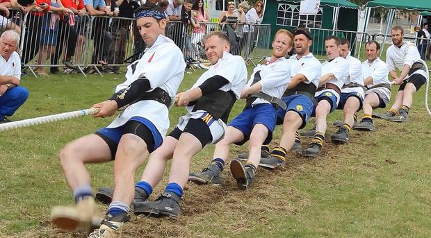 The NI team competes at the 2015 UK Tug Of War Championships