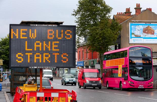 New bus lanes in Ballyhackamore, east Belfast