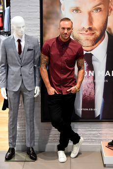 Calum Best at the launch the range at Burton