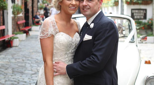 Lisa and Liam Murray on their wedding day