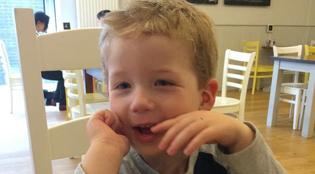 Oliver Scullion, 4, was described as a