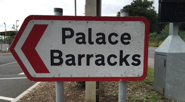 Palace Barracks in Holywood, Northern Ireland, where police are investigating a possible explosion.