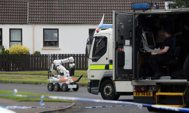 A bomb disposal unit at the scene of the suspect device in Dervock