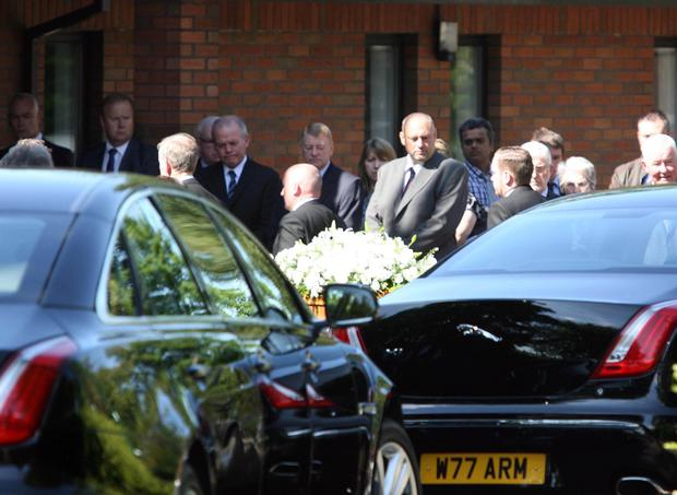 The funeral of Bradley Logan, who died on a family day out to Pleasureland in Newcastle