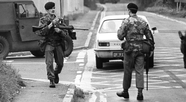 Troops at the scene of Maze escape in 1983