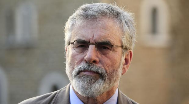 Gerry Adams insisted that the IRA was not involved in the killing of Kevin McGuigan