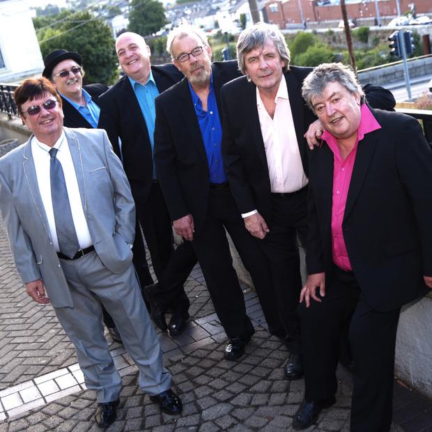 From left: The final line-up of Des Lee, Donnie Devenney, Richard McCleery, Alan McCartney, Barry Woods and Ray Millar