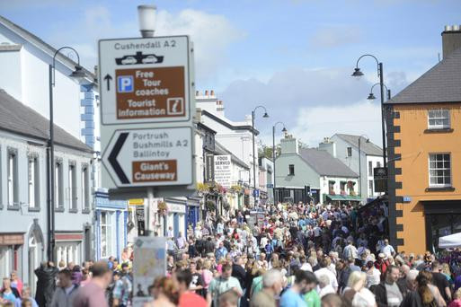 Crowds in Ballycastle