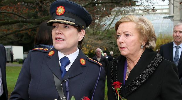 Ireland's Justice Minister Frances Fitzgerald (right) and Garda Commissioner Noirin O'Sullivan