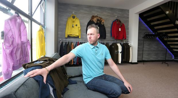 David James Kerr, whose clothes shop was targeted by thieves
