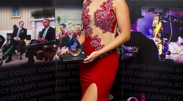 Lisa McHugh won the award for best female performer at the inaugural Irish TV Country Music Awards in the City Hotel in Armagh
