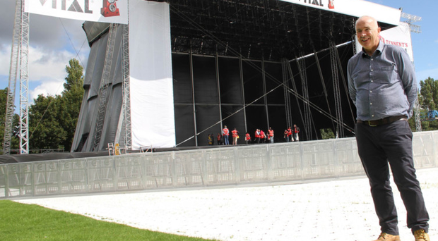 Tennent's Vital event controller Paul Scott oversees the final preparations for this weekend's gigs
