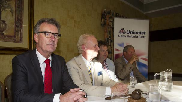 Senior members of the Ulster Unionist Party are due to vote on whether to walk away from Northern Ireland's power-sharing government