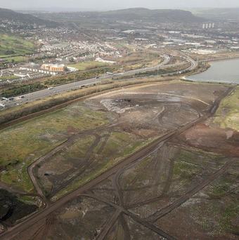 The north foreshore site in Belfast which could be home to the city's newest movie studios