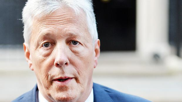 First Minister of Northern Ireland Peter Robinson arrives at Downing Street, London, for meeting with Prime Minister David Cameron