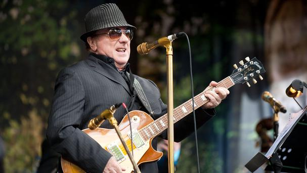 Van Morrison performing on Cyprus Avenue as part of the East Side Arts Festival