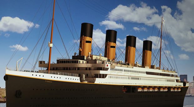 A computer-generated image of Australian mining tycoon Clive Palmer's plans for Titanic II
