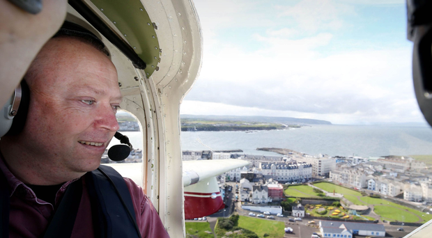 Mark Holmes, pilot and owner of the Adelphi Hotel Portrush, a sponsor of Air Waves Portrush