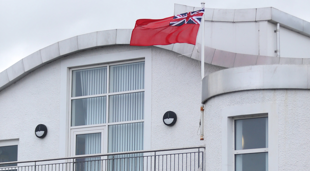 Red Ensign flies from Portnagree House in Ballycastle yesterday