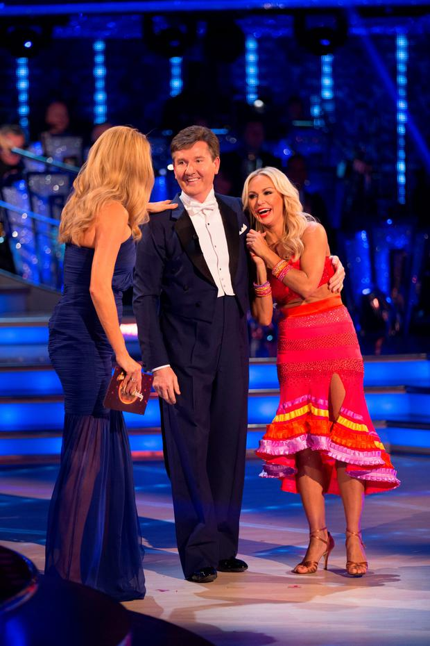 Strictly host Tess Daly, Daniel O'Donnell and his dance partner Kristina Rihanoff