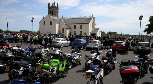 The campaign was in memory of Dr John Hinds, whose requiem mass was attended by many bikers