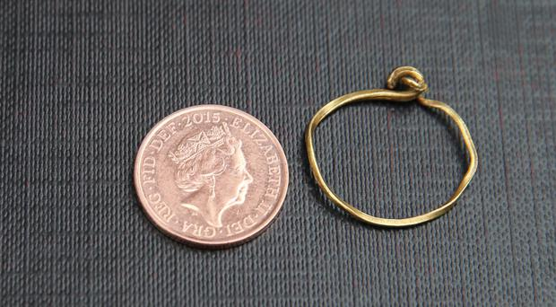 The gold wire ring unearthed at Drumclay Crannog has been declared treasure