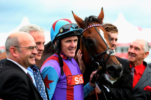 Tony McCoy after riding Gannicus to victory in the Clipper Logistics Leger Legends Classified Stakes at Doncaster yesterday