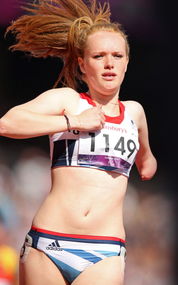 Athlete Sally Brown from Ballykelly competing in the 2012 Paralympic Games