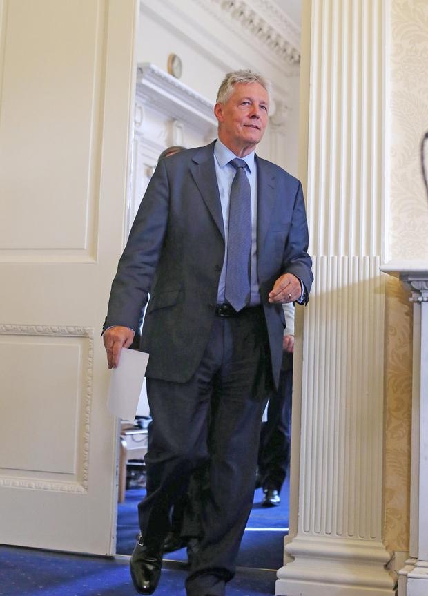 Peter Robinson after announcing he was to step aside as First Minister