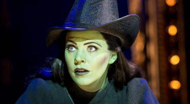Theatre star Rachel Tucker as Elphaba in the West End musical Wicked