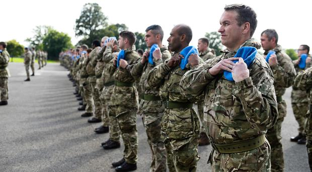 Some of the 150 Northern Ireland-based soldiers who have been deployed on a peacekeeping mission to Cyprus (MoD/PA)