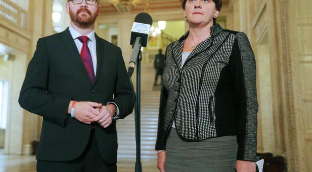 Arlene Foster and Simon Hamilton