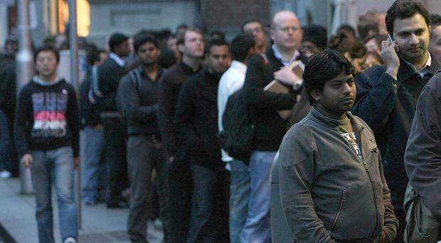 The number of people claiming unemployment-related benefits in Northern Ireland stands at 42,000