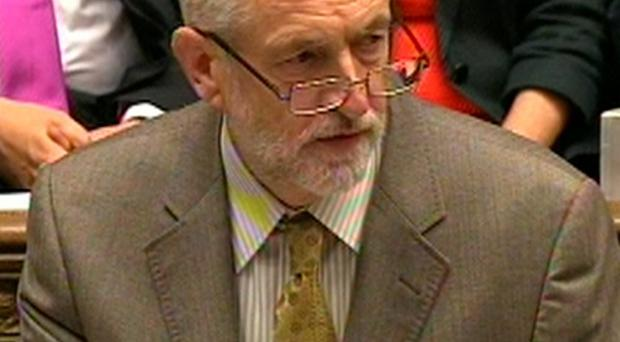 Labour leader Jeremy Corbyn speaks during Prime Minister's Questions in the House of Commons yesterday