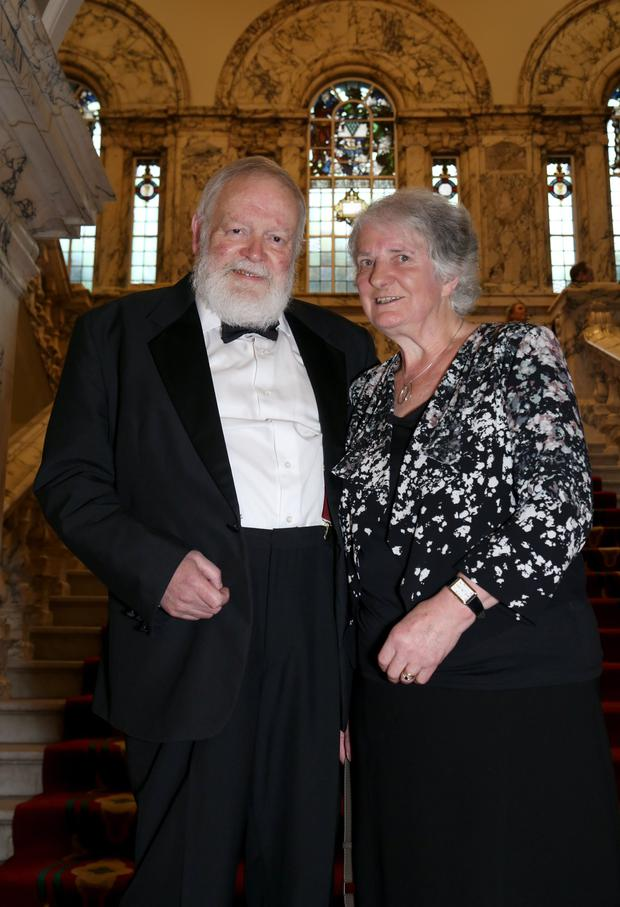 Acclaimed poet Michael Longley with wife Edna