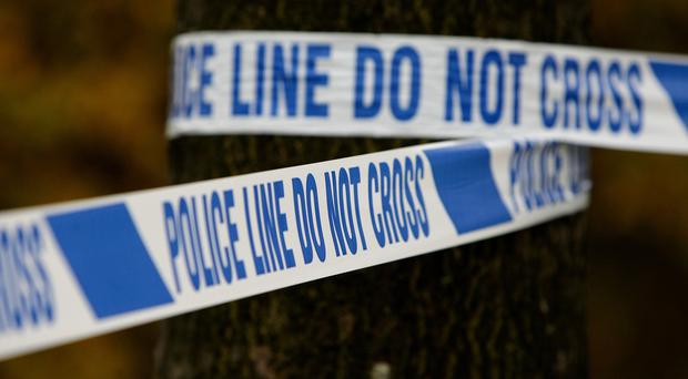 Two people have been arrested and suspicious objects seized during a security alert in Belfast.
