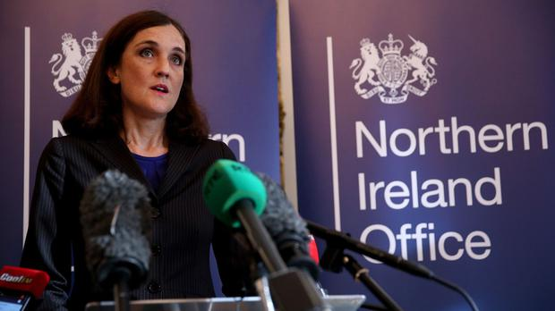 Northern Ireland Secretary Theresa Villiers announced the assessment