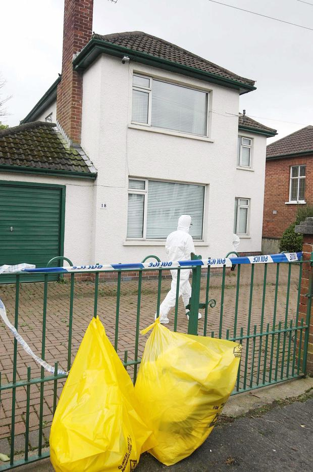 The house at Ballyholme Road in Bangor where Stephen Davidson was found stabbed to death